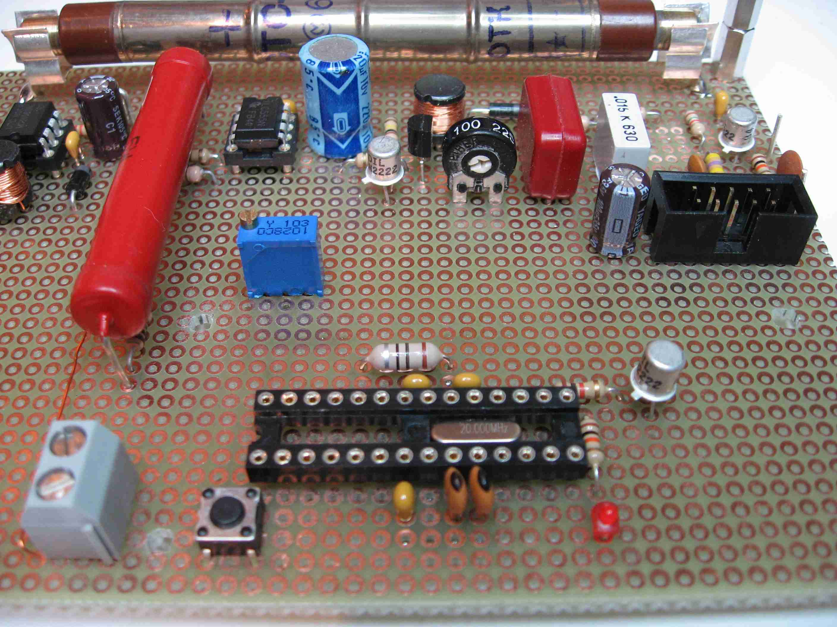 Aktives 21 Lautsprechersystem Fr Den Pc Geiger Counter With Usb Interface Schematics Figure 1 Home Made 2 Pcb Perf Board
